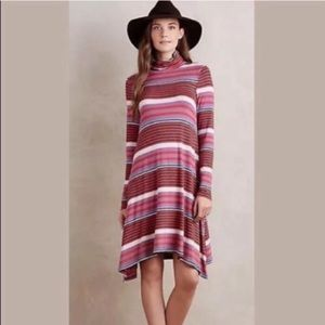 Anthropologie Maeve Striped Trapeze Dress
